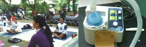 yoga, nebulizer