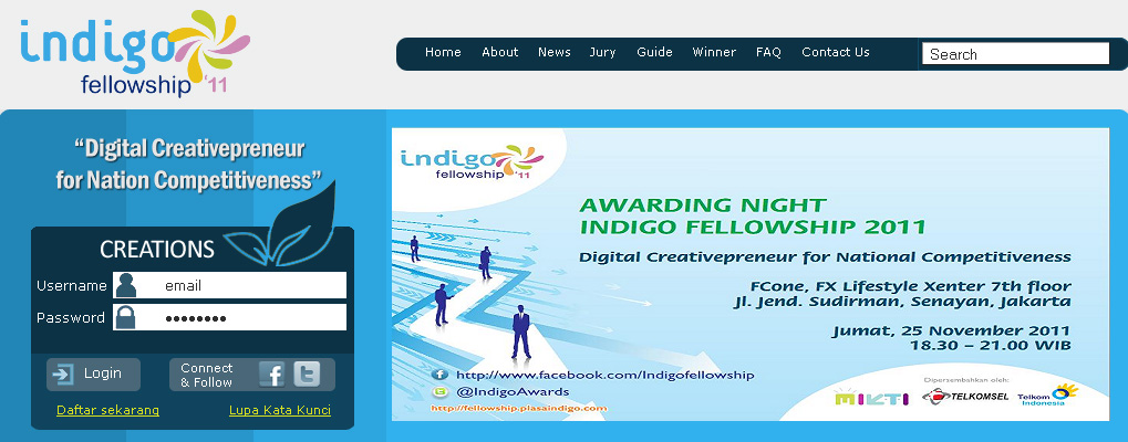 Awarding Night Indigo Fellowship 2011