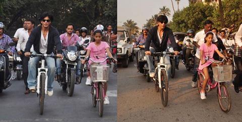 Shahrukh Khan Bersepeda